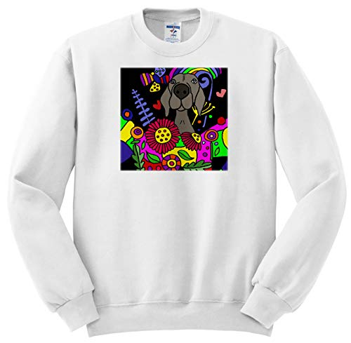 (All Smiles Art - Pets - Cool Funny Miniature Schnauzer Dog in Flower Garden Abstract Art - Sweatshirts - Youth Sweatshirt XS(2-4) (ss_299882_9))