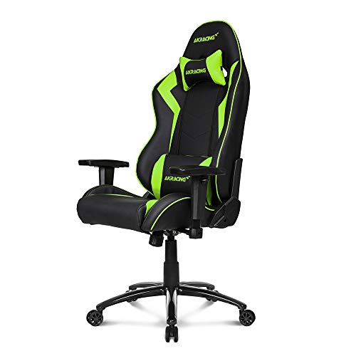 (AKRacing Core Series SX Gaming Chair with High Backrest, Recliner, Swivel, Tilt, Rocker and Seat Height Adjustment Mechanisms with 5/10 Warranty - Green)