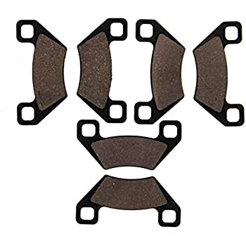 Front Rear Middle Brake Pads For Arctic Cat 700 H1 EFI 4x4 2009 2010