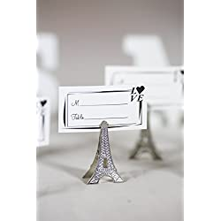50pcs Small Silver Vintage Eiffel Tower Place Card Holder Clips Paris Wedding Favor Rustic Decoration Memo Photo Holders
