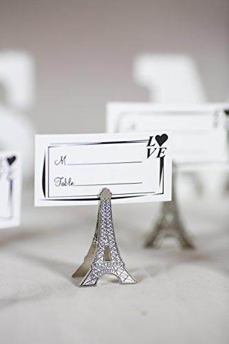 50pcs Small Silver Vintage Eiffel Tower Place Card Holder Clips Paris Wedding Favor Rustic Decoration Memo Photo Holders -