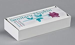 "Sanitary Napkin Disposal Bag DISPENSER, White Metal, for 4""x2""x9"" Bags, 8B02-D, 1 Each Per Box"