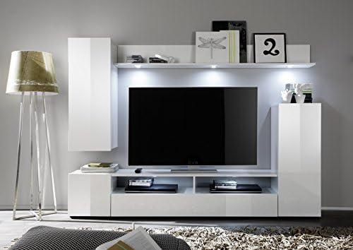 Teseo Moderne TV-Wand mit LED-Beleuchtung, für Design ...