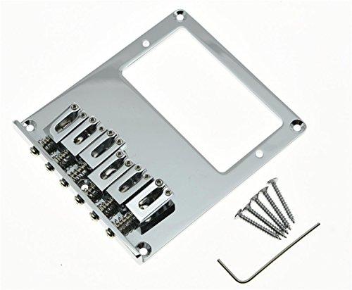 KAISH Chrome Tele Bridge Tele Humbucker Guitar Bridge for Telecaster Guitar