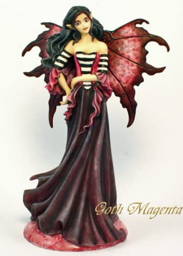Amy Brown Magenta , Red , Blue . Purple Goth Series Fairy Figurine Set of 4 2011