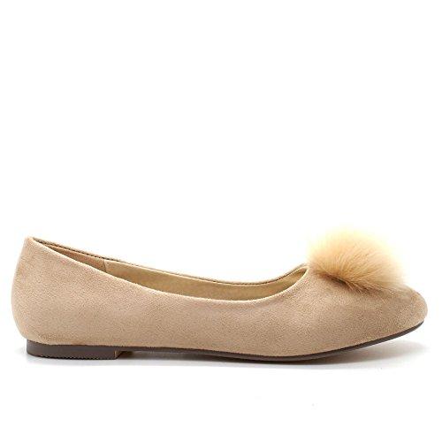 London Footwear - Ballet mujer Beige
