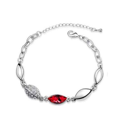 Platinum-plated Fashion Jewelry Set with Imported Crystal Element (CF-1083-S01)