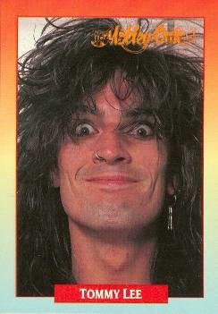 Tommy Lee trading card (Motley Crue Drummer Girls) 1991 Brockum Rock Music #19 from Autograph Warehouse