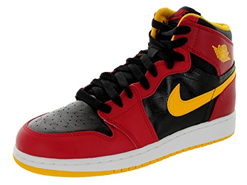 Nike Jordan Kids Air Jordan 1 Retro High Og Gs Black/Gym Red/University Gold Basketball Shoe 6.5 Kids US