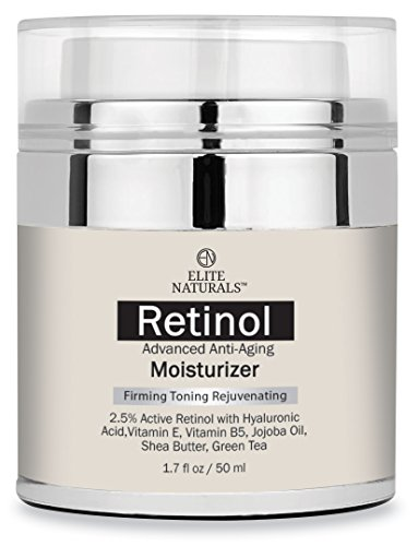 Elite Naturals Retinol Moisturizer Cream for Face and Eye Area 1.7 Oz - Hyaluronic Acid, Shea Butter and (Skin Care Products)