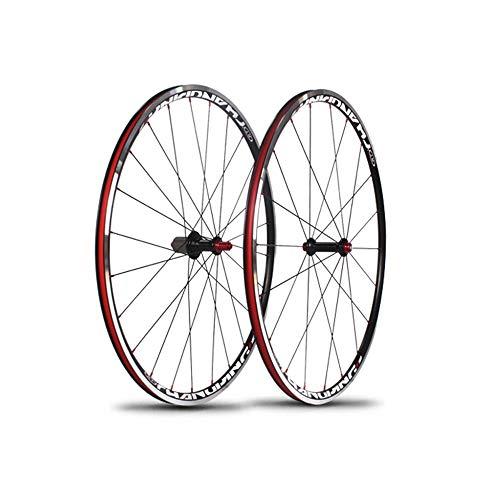 ZXCCZ 700C Road Bike Wheels, Aluminum Alloy V-Brake Disc Rim Brake Sealed Bearings Compatible 11 Speed Hybrid Bike