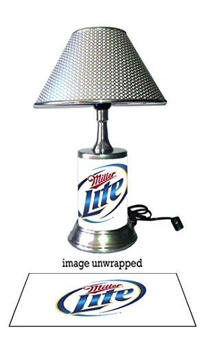 miller-lite-lamp-with-chrome-shade-logo