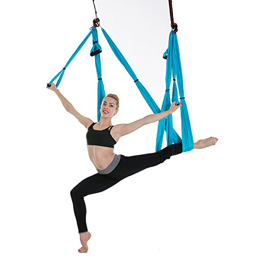 Wiiguda@ Yoga Hammock Swing Trapeze Multi-functional Anti-Gravity Flying Sling Inversion Yoga Tool