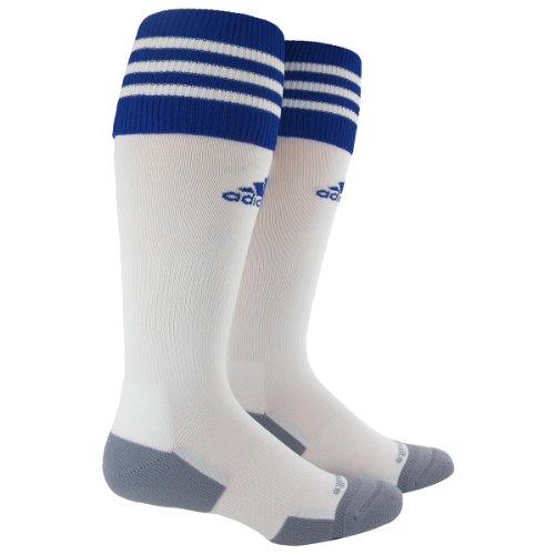 adidas Copa Zone Cushion II Sock, White/Cobalt, Medium