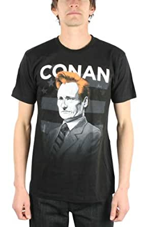 Conan O'Brien - Camiseta - Hombre - Conan O'Brien - Admat Uomo S/S (Camiseta) In Nero, Medium, Nero