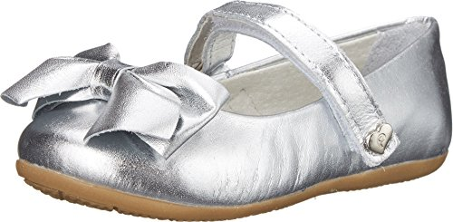 Pampili Girl's Sofia 214 (Toddler/Little Kid/Big Kid) Silver Flat 35