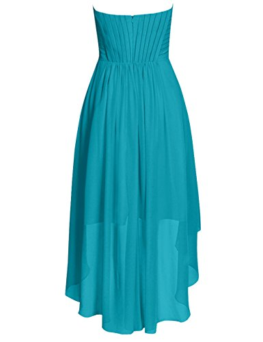 Party Formal Bridesmaid Ruffled Cdress Dresses High Wedding Low Short Chiffon stormy Gowns qzXzxtwf8