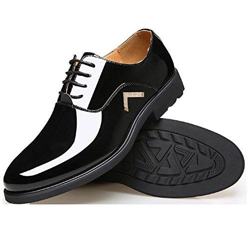 Mens Leather Casual Shoes Dress Herbst Business Hochzeit Mode Rutschen Große Füße A