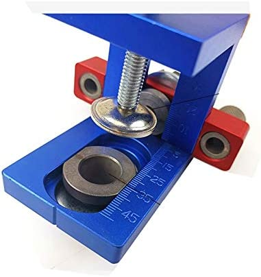 LT-TOOL, 1set Wood Doweling Jig Pocket Hole Drilling Locator Jig Kit With 6/8/10mm Drill Bit Vertical Drill Guide Hole Puncher Locator Tool (Size : Type B)