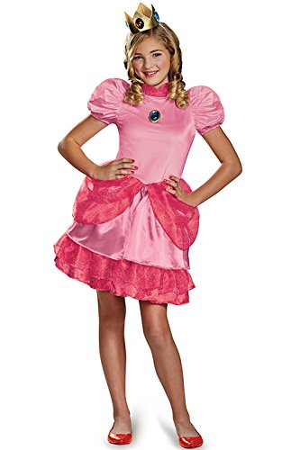 [Disguise Nintendo Super Mario Brothers Princess Peach Tween Costume, Medium/7-8] (Super Easy Character Costumes)