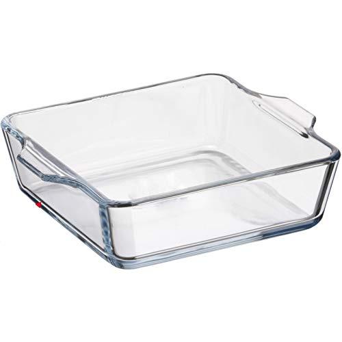 Plana de horno de cristal - L 15 x l 13 x H 4 cm: Amazon.es: Hogar