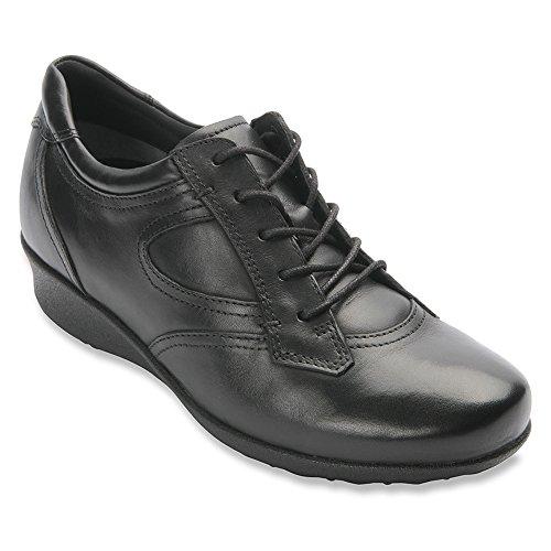 Drew Shoe Womens Prague Leather Casual Sneakers Black Leather oqSEdqt03k