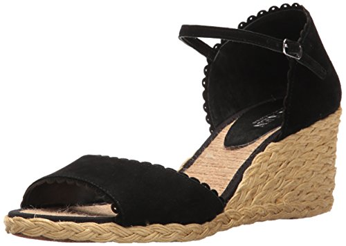 Lauren by Ralph Lauren Womens Chrissie Leather Open Toe Casual Espadrille San. Black LCbpOvvpMv