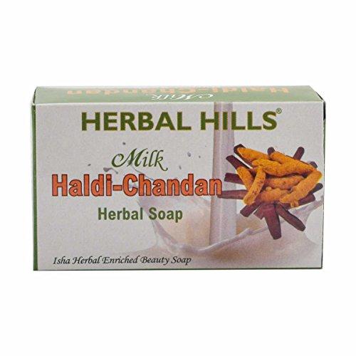 Herbal Hills Milk Chandan Turmeric Soap - 100 g (Pack of 4)