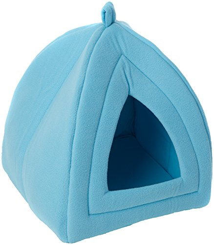 PETMAKER Cozy Kitty Tent Igloo Plush Cat Bed – Blue