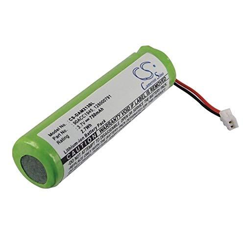 Sunsamy Energy 3.7v Li-ion Battery High Capacity 750mAh/2.78Wh Li-ion Barcode Scanner Battery for BT-7 QuickScan Mobile Datalogi/M2130/QM2130(1pcs) (Color : Green, Size : 52.00x14.60x14.60mm)