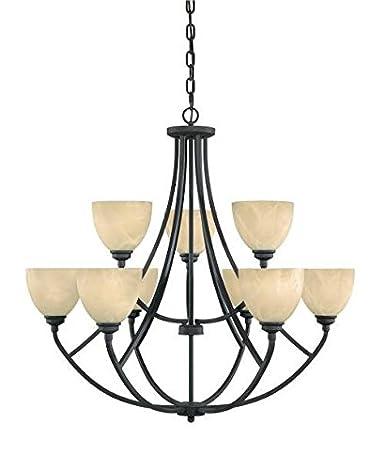 Designers fountain 82989 bnb tackwood 9 light chandelier burnished designers fountain 82989 bnb tackwood 9 light chandelier burnished bronze aloadofball Images