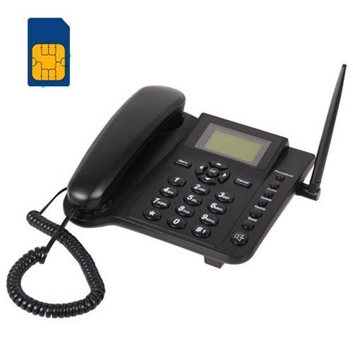 - BW 2.4'' Wireless Quadband GSM Classic Desk Telephone Telephone handset for Business or Family (Especially for Older Folk) - Black