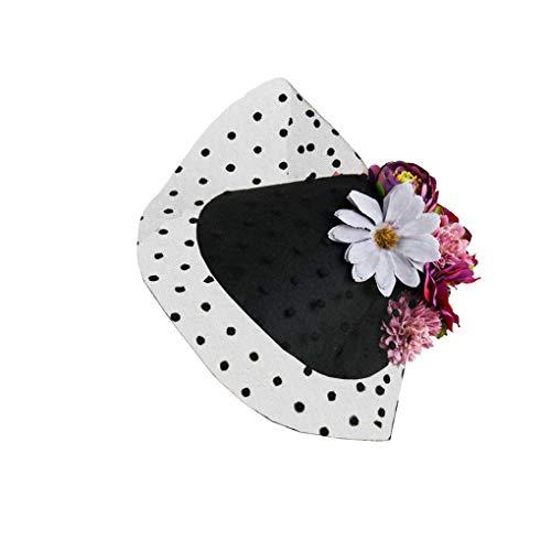 (Fascinator Hats Pillbox British Bowler Hat Flower Wedding Hat Tea Party)