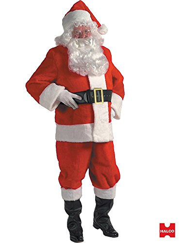 Halco Duvetyne Complete Santa Suit in a Box Set - Standard Size 42-48