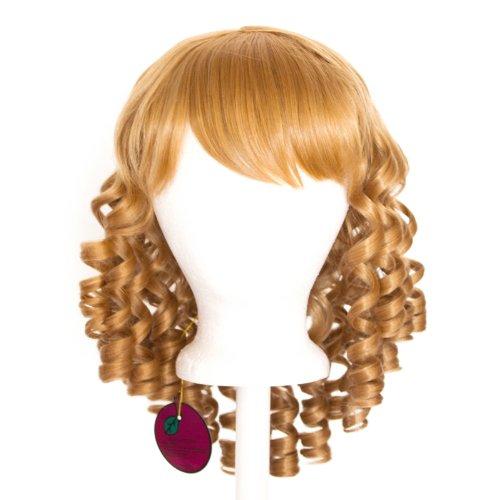 Risa - Hazelnut Brown Wig 14'' Ringlet Curly Shoulder Length w/ Short Bangs -
