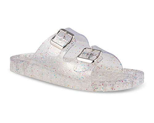 tte Transparent Jelly Buckle Sandal - ROXETTE03 Clear, Size 8 ()
