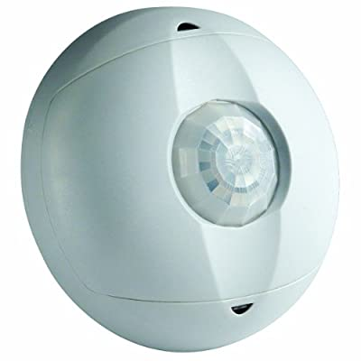 Leviton OSC15-I0W Ceiling Mount Occupancy Sensor, PIR, 360 Degree, 1500 sq. ft. Coverage, Self-Adjusting, White from Leviton