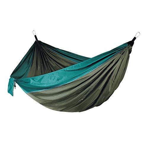 Naxqx Camping Hamaca Al Aire Libre Doble Hamaca Jardín De Viaje Portátil Columpio De Nylon De Secado Rápido Transpirable con Cuerda Mosquetón, Verde/Verde B: Amazon.es: Jardín