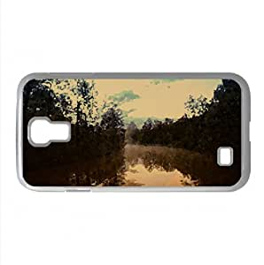 River Fog, Autumn Watercolor style Cover Samsung Galaxy S4 I9500 Case (Rivers Watercolor style Cover Samsung Galaxy S4 I9500 Case)
