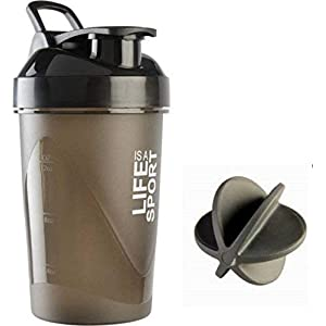 BSPA Plastic Life is A Sport Shaker Bottle/Protein Shaker/Sipper Bottle/Gym and Water Bottle, 500ml