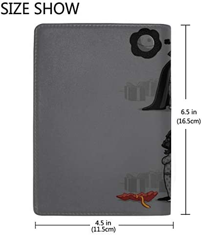 Star Wars Characters Drawing Leather Passport Holder Cover Case Travel One Pocket