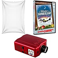 Virtual Reality Christmas Projector Kit with HD Projector AtmosCheerFX Winter Wonderland DVD and High Resolution Screen