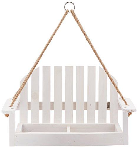 Worth Garden Wooden Bird Feeder with White Swing Chair Design (Garden Seats Swing)