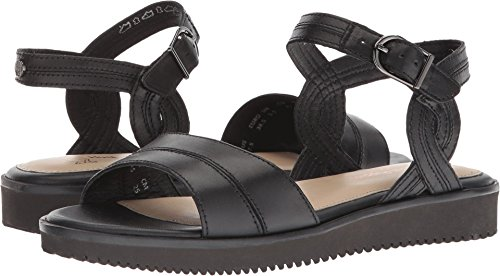 Hush Puppies Womens Briard Quarter Strap Black Leather 8.5 W (D)