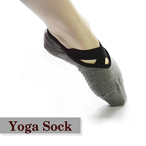 1 Pairs Non Slip Skid Winter Yoga Socks with Grips Cotton Silicone Dot sock for Women Ballet socks Pilates socks BigNoseDeer … (1 pair)