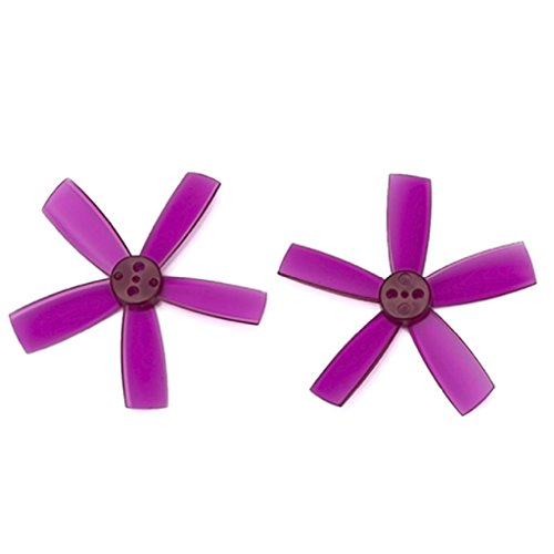 8 Pairs DYS 1935 Propellers 1.9 Inch 5-Blade PC Prop for FPV RC Quadcopters Multicopters Drones (Purple)