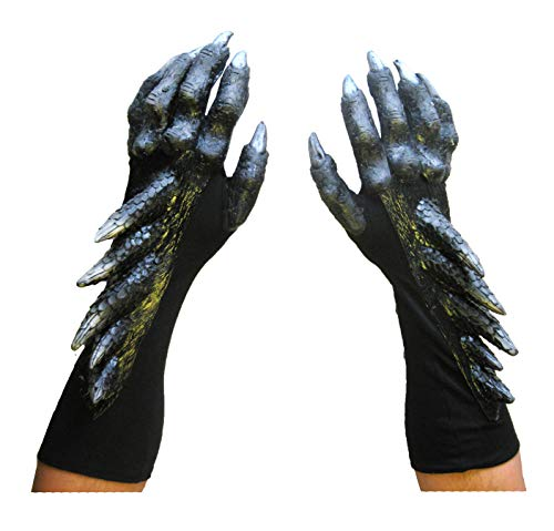 Black Dragon Claws Hands Adult Halloween Costume Gloves