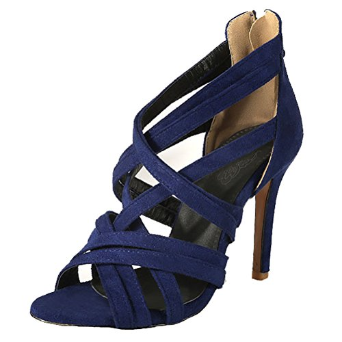 Talla Romana HiTime Color Mujer de 43 Ante Azul EU w7q1Y