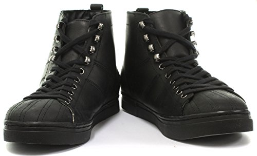 Oil Grinders Max Lace Mens Distress Black Shoes Up A8YpnrYSWx