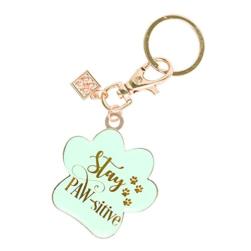 Mary Square 22949Stay Paw-Sitive Key Chain 1.5 x 1.5 x 1.5 Multicolor